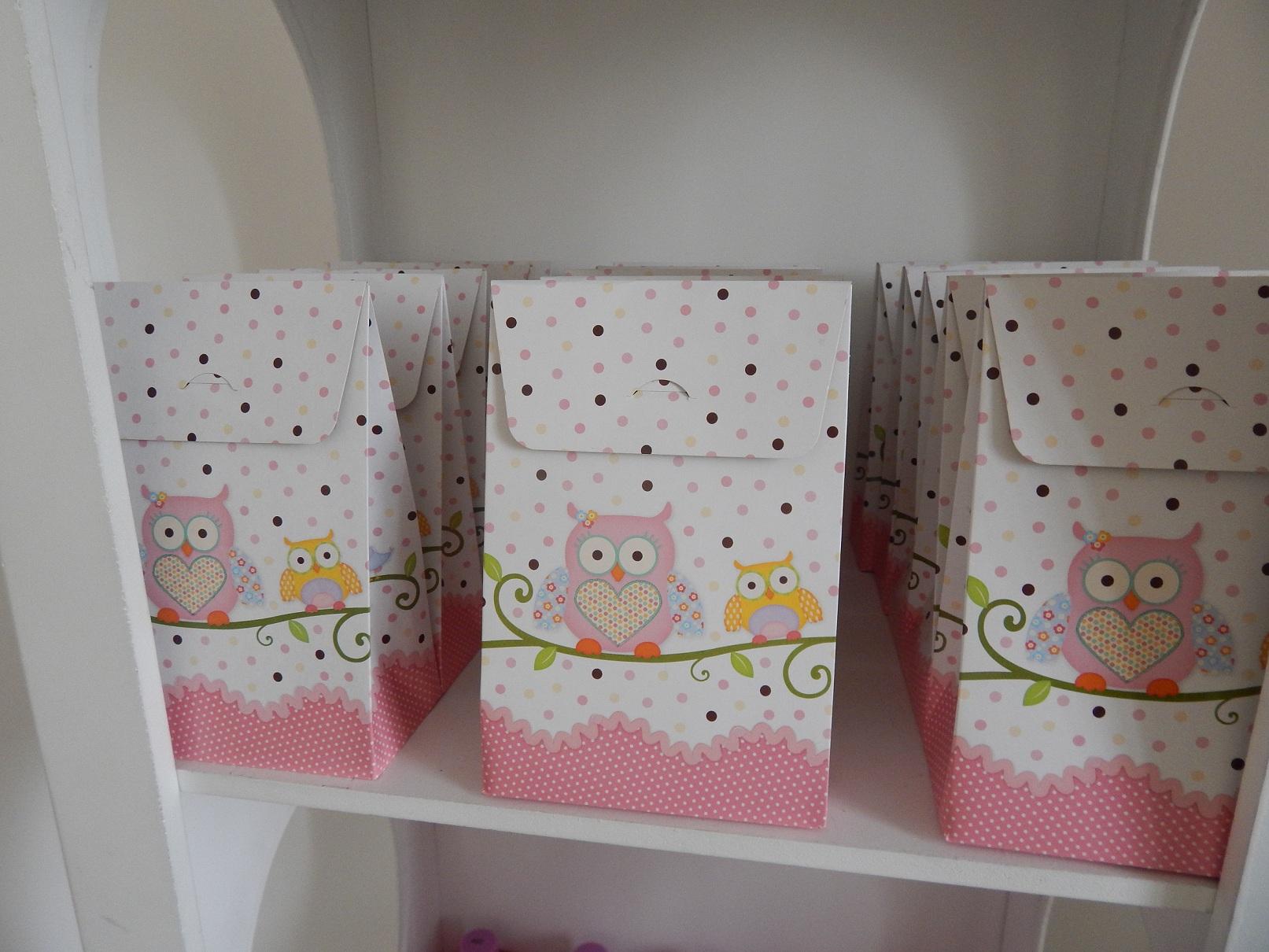 FESTA CLEAN Corujinhas rosa e verde  (105)