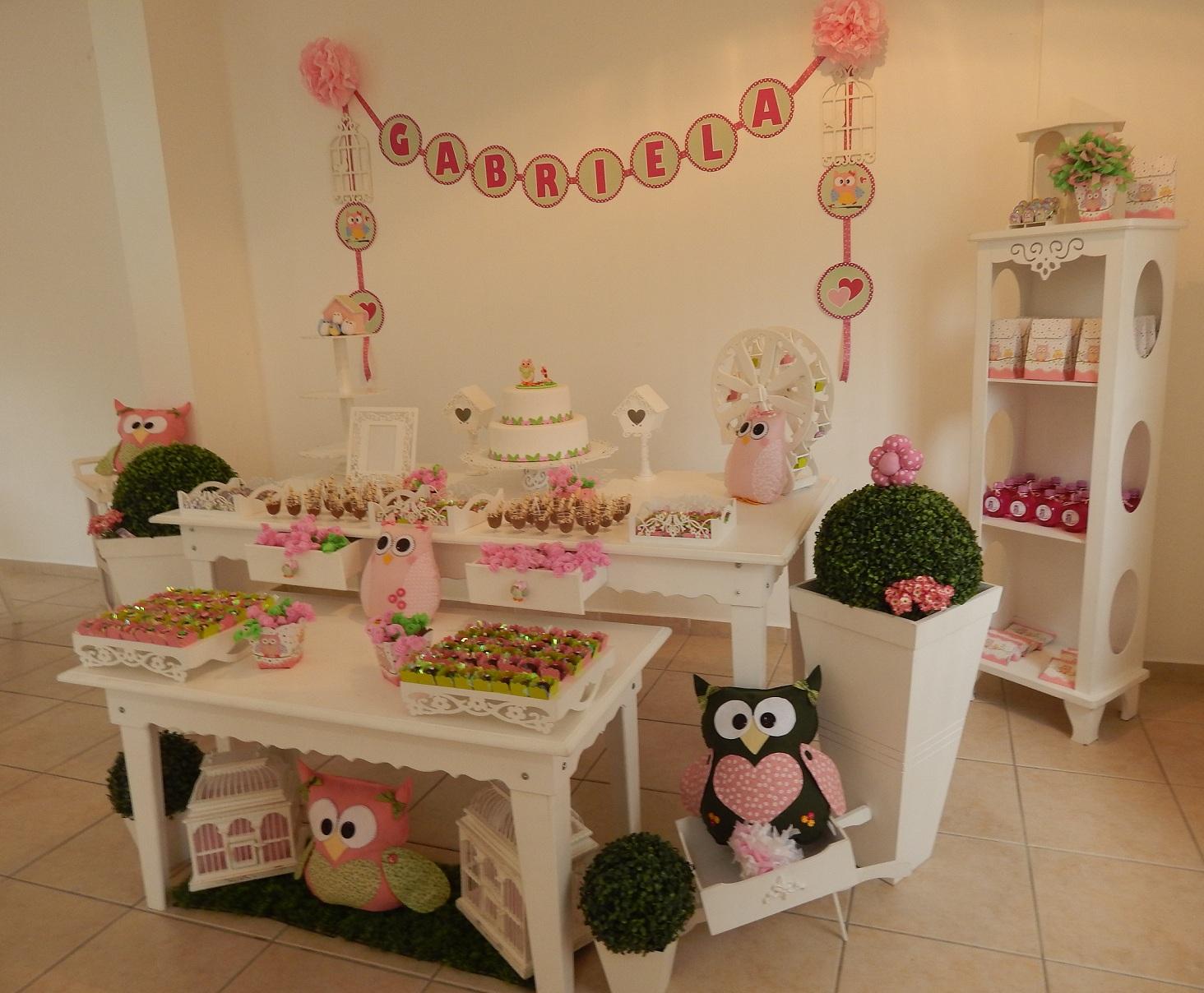 FESTA CLEAN Corujinhas rosa e verde  (109)