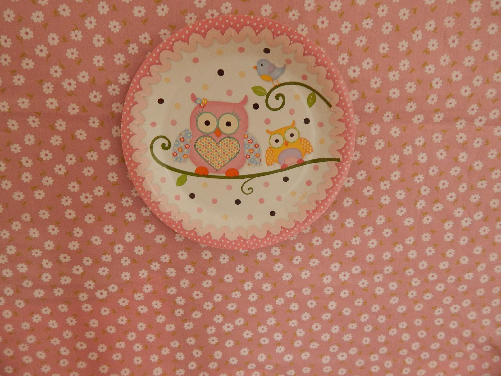 FESTA CLEAN Corujinhas rosa e verde  (110)