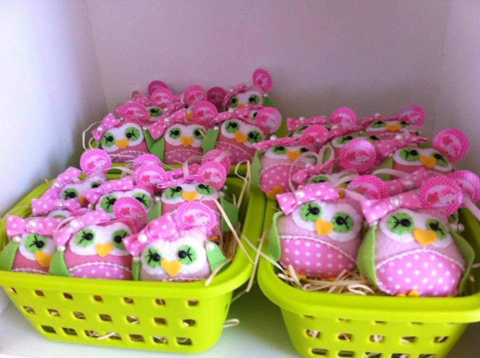 FESTA CLEAN Corujinhas rosa e verde  (16)