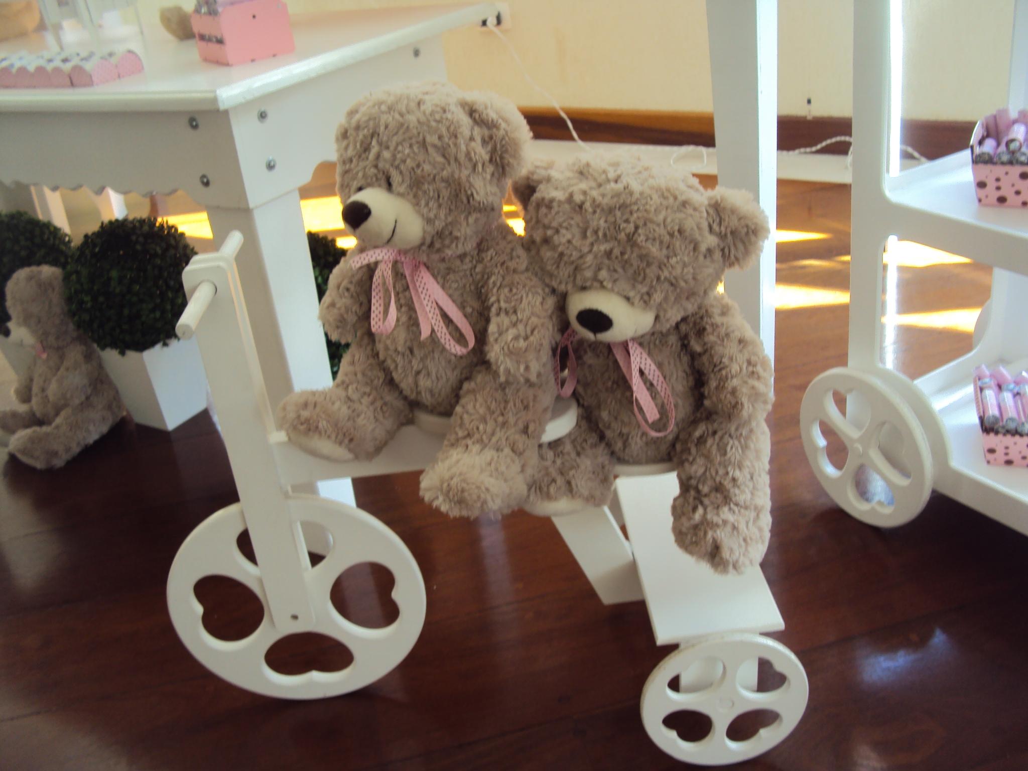 FESTA CLEAN Ursos marrom e rosa  (3)