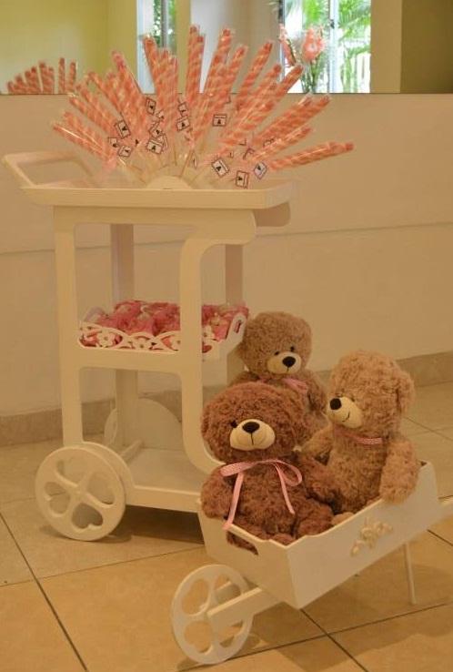 FESTA CLEAN Ursos marrom e rosa  (7)