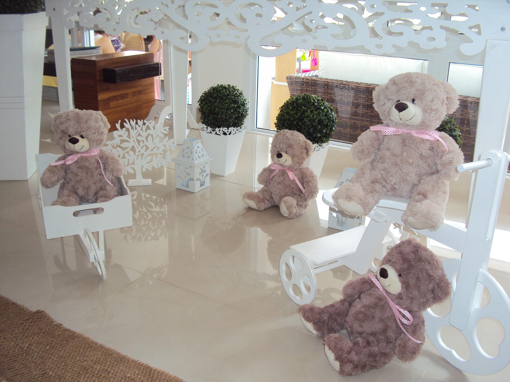 FESTA CLEAN Ursos marrom e rosa  (78)
