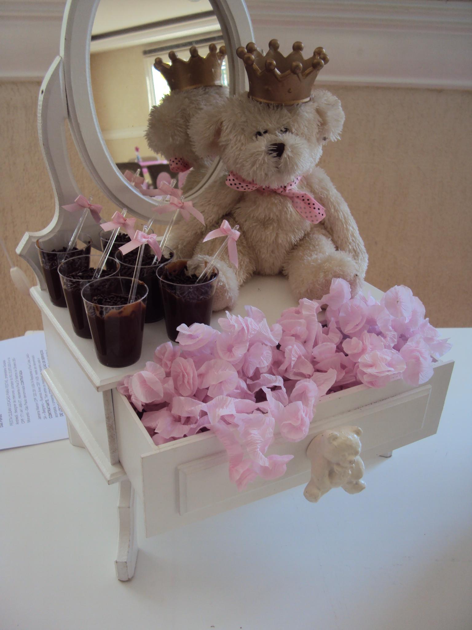 FESTA CLEAN Ursos marrom e rosa  (86)